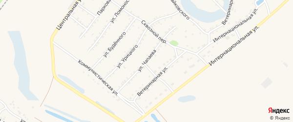 Улица Чапаева на карте Заринска с номерами домов