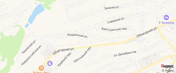 Раздольная улица на карте Белокурихи с номерами домов
