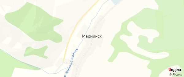 Карта села Мариинска в Алтае с улицами и номерами домов