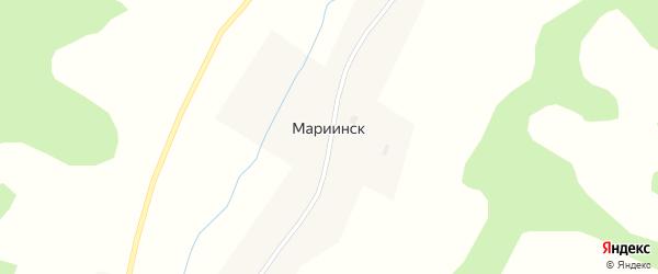 Центральная улица на карте села Мариинска с номерами домов