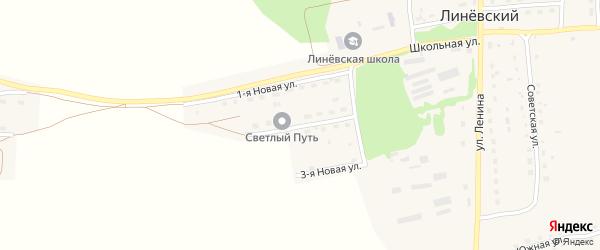 2-я Новая улица на карте Линевского поселка с номерами домов