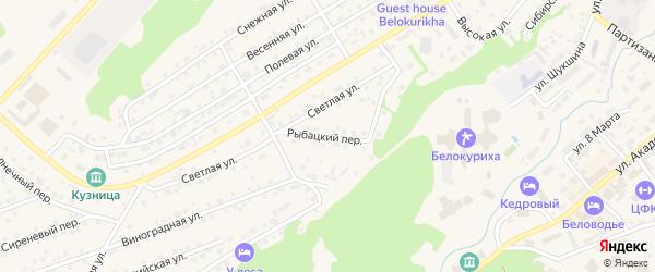 Рыбацкий переулок на карте Белокурихи с номерами домов
