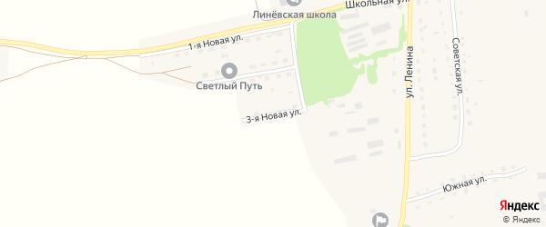 3-я Новая улица на карте Линевского поселка с номерами домов
