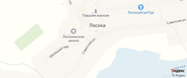 Советская улица на карте села Лосихи с номерами домов
