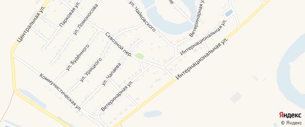 Ветеринарная улица на карте Заринска с номерами домов