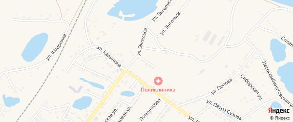 Улица Матросова на карте Заринска с номерами домов