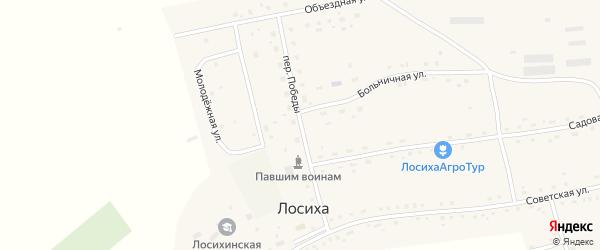 Переулок Победы на карте села Лосихи с номерами домов