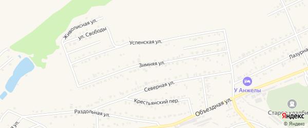 Зимняя улица на карте Белокурихи с номерами домов