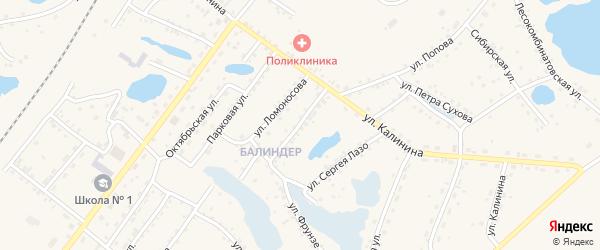 Улица Мамонтова на карте Заринска с номерами домов
