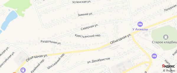 Крестьянский переулок на карте Белокурихи с номерами домов
