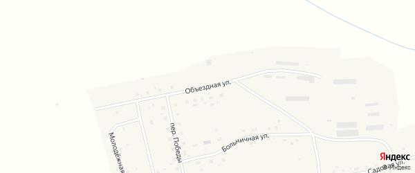 Объездная улица на карте села Лосихи с номерами домов