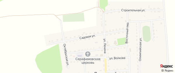 Садовая улица на карте Линевского поселка с номерами домов