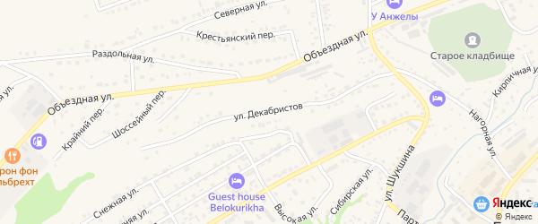 Улица Декабристов на карте Белокурихи с номерами домов