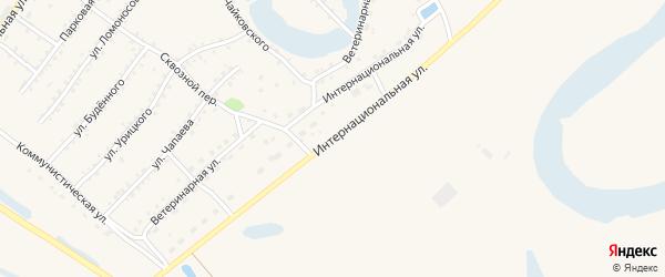 Интернациональная улица на карте Заринска с номерами домов