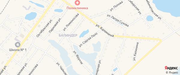 Улица Сергея Лазо на карте Заринска с номерами домов
