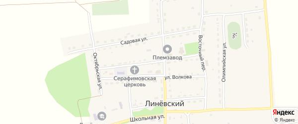 Улица Скорикова на карте Линевского поселка с номерами домов