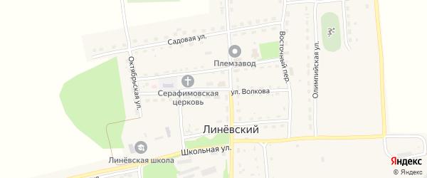 Улица Волкова на карте Линевского поселка с номерами домов