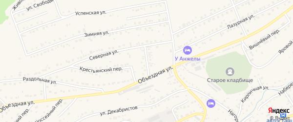 Усадебный переулок на карте Белокурихи с номерами домов