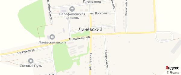 Улица Ленина на карте Линевского поселка с номерами домов
