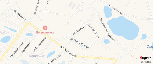 Улица Попова на карте Заринска с номерами домов