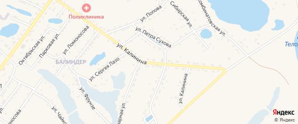 Улица Калинина на карте Заринска с номерами домов