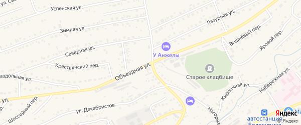 Объездная улица на карте Белокурихи с номерами домов
