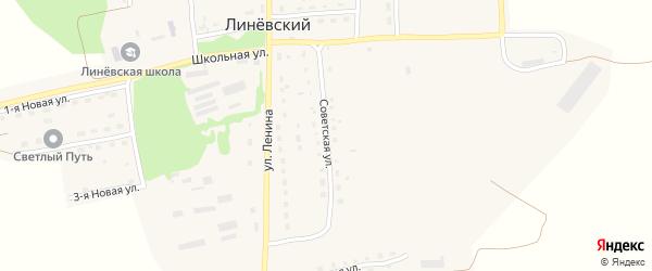 Советская улица на карте Линевского поселка с номерами домов