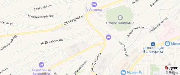 Прямая улица на карте Белокурихи с номерами домов