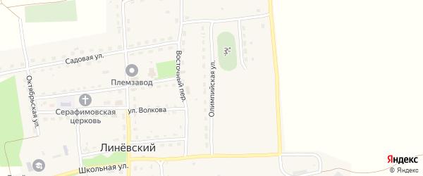 Олимпийская улица на карте Линевского поселка с номерами домов