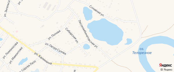 Лесокомбинатовская улица на карте Заринска с номерами домов
