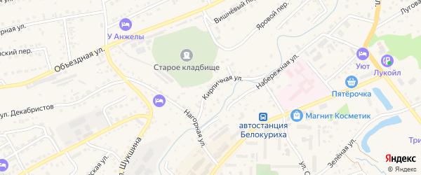Кирпичная улица на карте Белокурихи с номерами домов