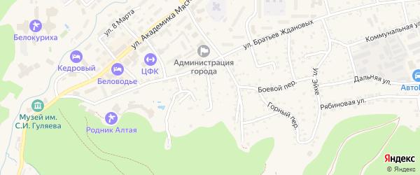 Новый переулок на карте Белокурихи с номерами домов