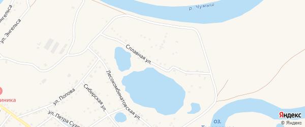Сплавная улица на карте Заринска с номерами домов