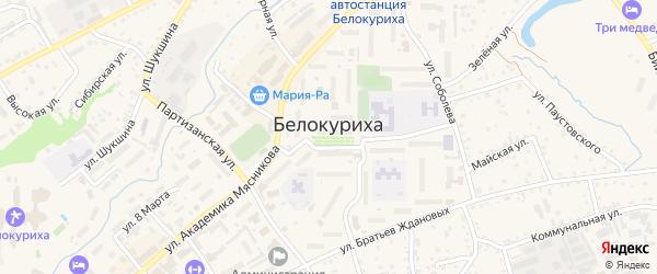 2-я Дачная улица на карте Белокурихи с номерами домов