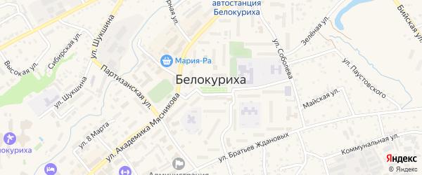 Предгорная улица на карте Белокурихи с номерами домов