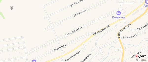 Белогорская улица на карте Белокурихи с номерами домов