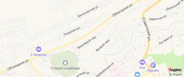 Вишневый переулок на карте Белокурихи с номерами домов