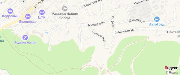 Цветочный переулок на карте Белокурихи с номерами домов