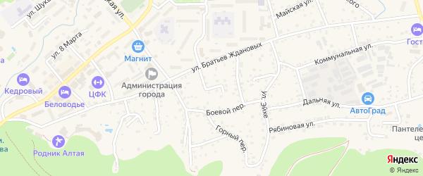 Веселый переулок на карте Белокурихи с номерами домов