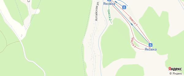 Алтайская улица на карте Белокурихи с номерами домов