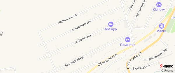 Улица Булычева на карте Белокурихи с номерами домов