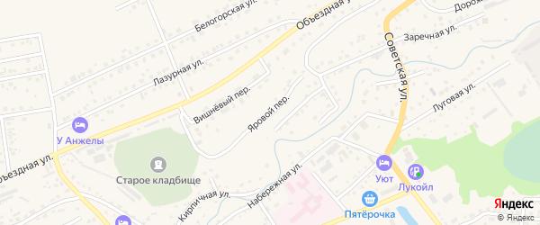 Яровой переулок на карте Белокурихи с номерами домов