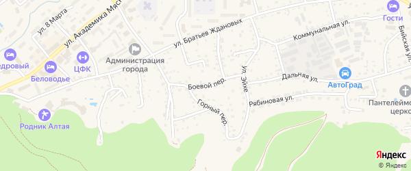Боевой переулок на карте Белокурихи с номерами домов