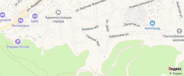Горный переулок на карте Белокурихи с номерами домов
