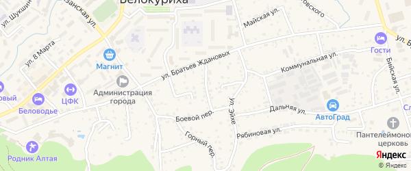 Ключевой переулок на карте Белокурихи с номерами домов