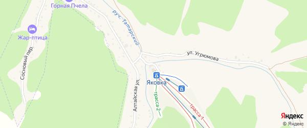 Улица Угрюмова на карте Белокурихи с номерами домов