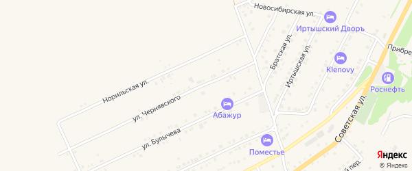 Улица Чернявского на карте Белокурихи с номерами домов