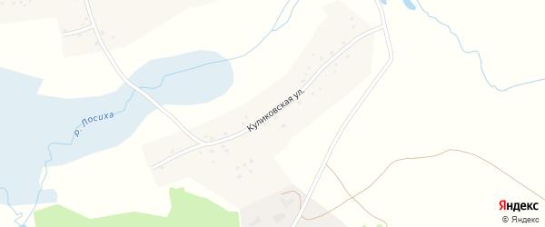 Куликовская улица на карте села Лосихи с номерами домов