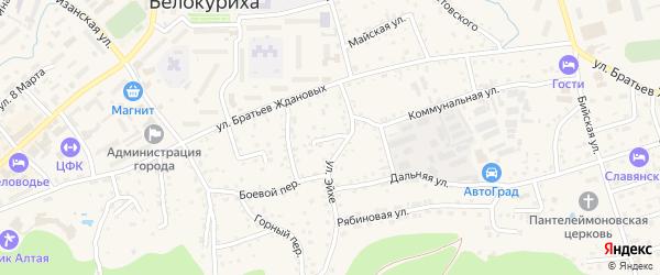 Южный переулок на карте Белокурихи с номерами домов
