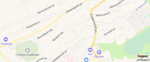 Заводской переулок на карте Белокурихи с номерами домов